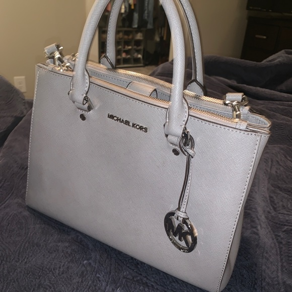 reliable reputation cheap prices clear and distinctive Michael Kors Light Grey Large Crossbody Purse